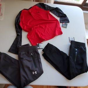 Under armour 4t bundle 2 pants and shirt